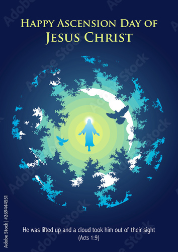 Happy Ascension Day of Jesus Christ Canvas Print