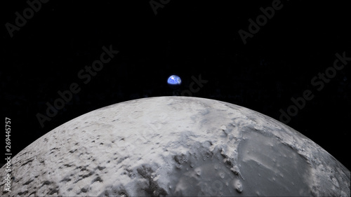 Earth rise from the moon Fototapet
