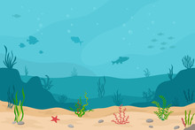 Sea Underwater Background. Mar...