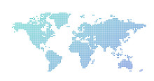 World Map Dotted Style, Vector...
