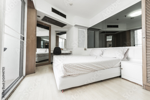 luxury studio apartment with a free layout - Buy this stock photo