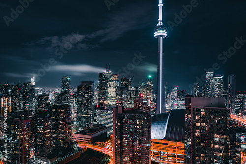 Tuinposter Toronto Epic City Skyline of Toronto Canada