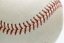 Baseball Ball On White Backgro...