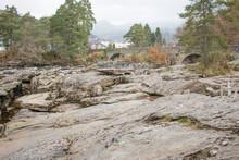 Falls Of Dochart Perthshire Killin Scotland Great Britain