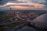 Fototapeta Nowy Jork - Aerial View of the City Albany, Capitol of the State of New York
