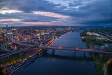 Aerial View Of The City Albany, Capitol Of The State Of New York