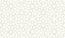Seamless Pattern In Authentic Arabian Illustration Style