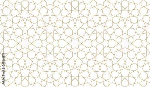 Seamless pattern in authentic arabian illustration style Canvas Print