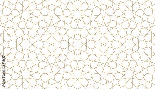 Photo Seamless pattern in authentic arabian illustration style