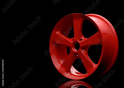 Aluminium alloy car wheel Canvas Print