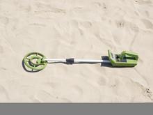 Toy Metal Detector On A Fine Sandy Beach