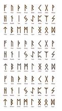 Large Set Of Scandinavian Rune...