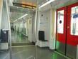 interiors of amsterdam subway train