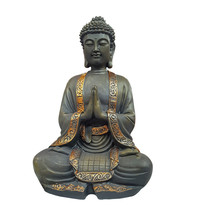 Buddha Figurine With Folded Arms On White Background