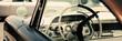 canvas print picture - Interior of a classic American car