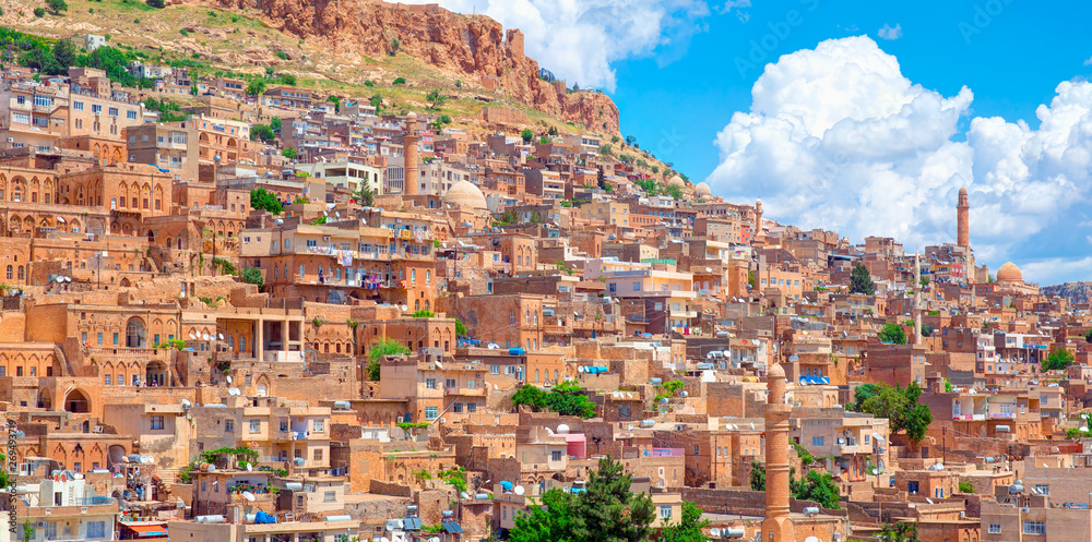 Fototapety, obrazy: Mardin old town with bright blue sky - Mardin, Turkey