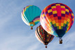 canvas print picture Hot air balloons on blue sky