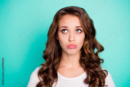 Close-up portrait of her she nice-looking attractive lovely charming gorgeous of Canvas Print