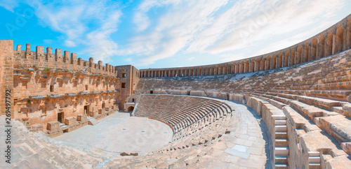 Photo  The ancient city of Aspendos with famous theater Aspendos