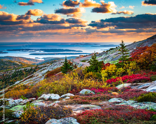 Cadillac Mountain in Acadia National Park in Fall Canvas Print