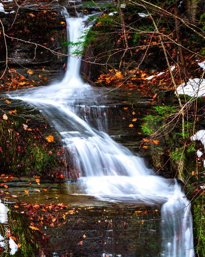 Waterfall in Watkins Glen State Park Upstate New York