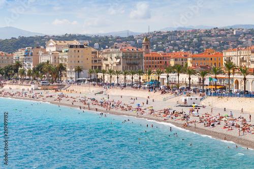 Poster Cote Promenade des Anglais. Nice. French Riviera