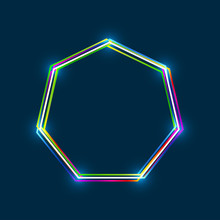 Heptagon Frame With Colorful M...