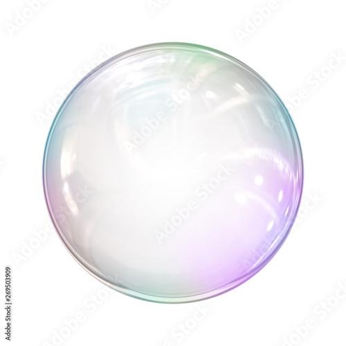 Fotografía  soap bubble background illustration