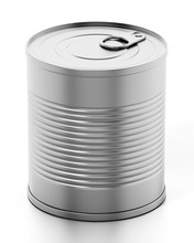 Tin Can Isolated On White Background. 3D Illustration