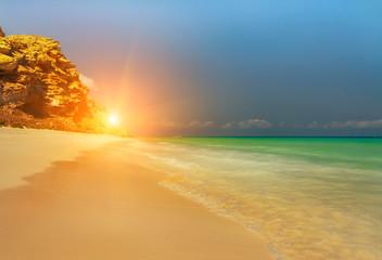 Fantastic deserted beach on...
