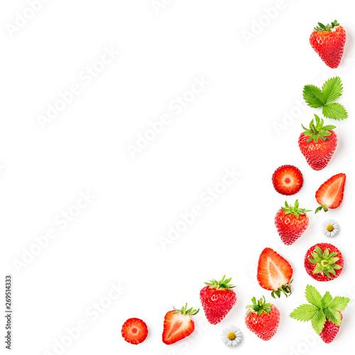 Strawberry spring fruits frame