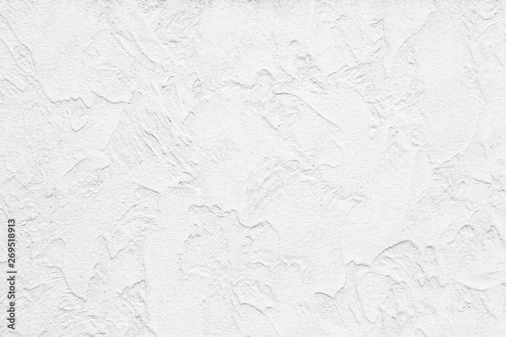 Fototapeta The pattern of painted plaster walls is white texture and background