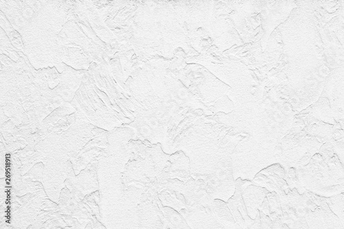 Obraz na plátne  The pattern of painted plaster walls is white texture and background