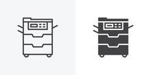Office Copy Machine Icon. Line...