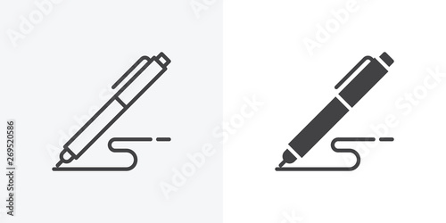 Foto Pen, write icon