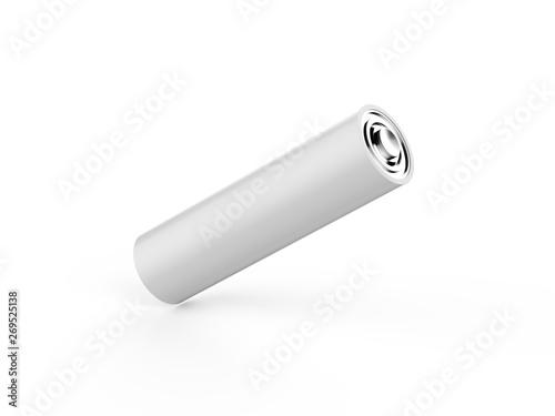 Photo Blank power battery, empty AA accumulator, clear cylinder ecology battery mock u