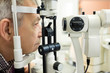 Optic specialists views eyesight to patient