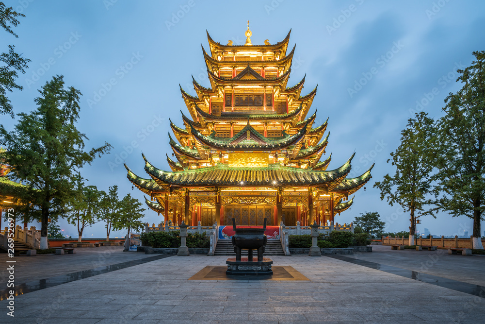 Fototapety, obrazy: Ancient architecture temple pagoda in the park, Chongqing, China