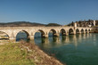 Mehmed Pasha Sokolovic historic bridge over Drina river in Visegrad,Bosnia and Herzegovina