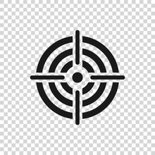 Grey Target Sport For Shooting Competition Icon Isolated On Transparent Background. Clean Target With Numbers For Shooting Range Or Pistol Shooting. Vector Illustration