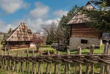 Rural Traditional Houses From 1890  In Sirogojno Village In Zlatibor Area,Serbia