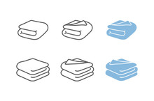 Set Of Towel Vector Illustrati...