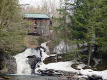 Covered Bridge In Winter In Vermont