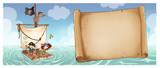 piratas con pergamino