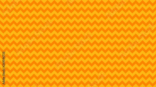 Vászonkép  serrated striped orange yellow color for background, art line shape zig zag oran