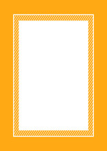 Fashionable Frame Orange Color Flat Lay Style And Rectangle For Copy Space, Empty Frame Orange For Banner Design, Template Of Orange Frame Banner Blank For Advertising Graphic Beauty Cosmetics Fashion