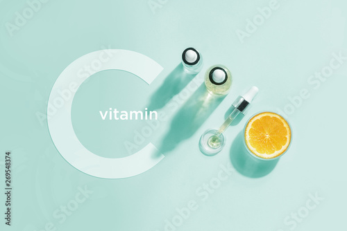 Stampa su Tela  Organic bio cosmetics with vitamin C
