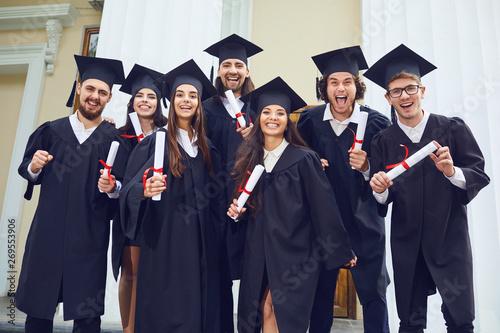 Fotografie, Obraz  A group of graduates smiling
