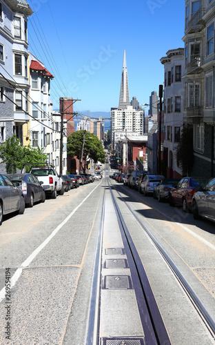 Fototapeta The streets of San Francisco: Washington Street obraz na płótnie