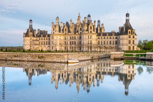 Fényképezés  Chambord Castle, royal medieval french castle in Loire Valley, France